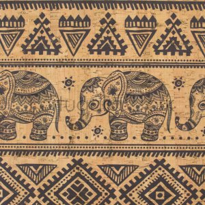 Cork fabric printing Elephants