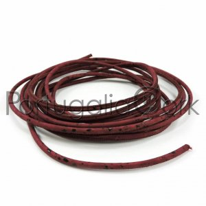 Cork cord 3 mm wine