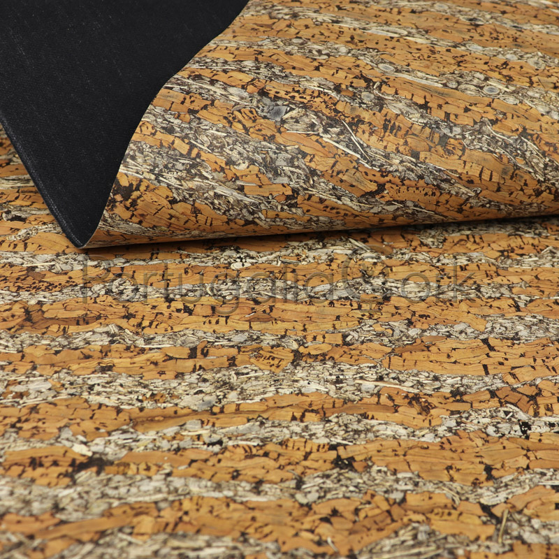 Cork and Fennel fabric White