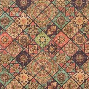 Cork fabric printing Tiles Morocco