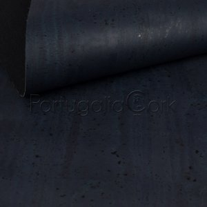 Cork fabric Navy blue