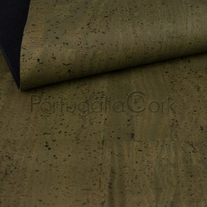Cork fabric Army green