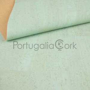 Cork fabric Light green