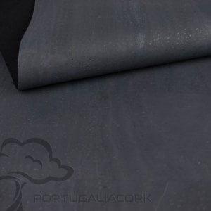 Cork fabric Charcoal grey