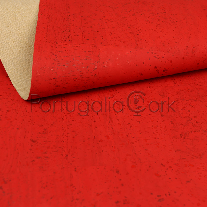 Cork fabric Red Candy