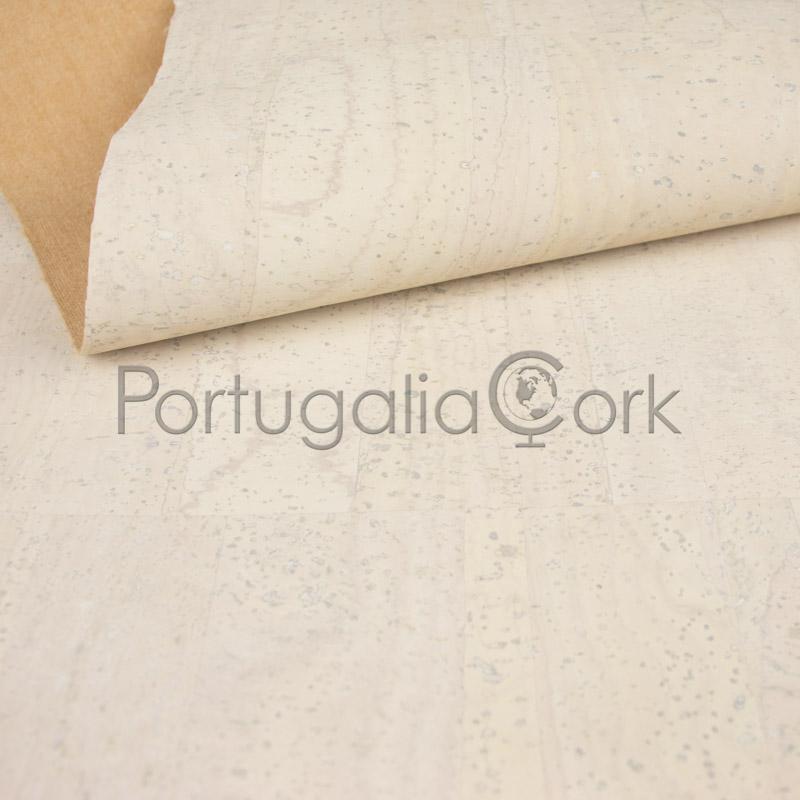 Cork fabric White