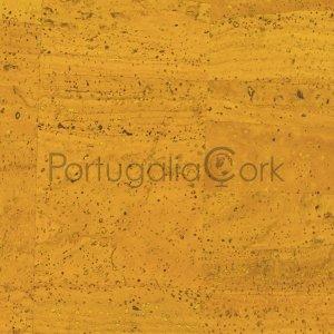 Cork fabric Yellow
