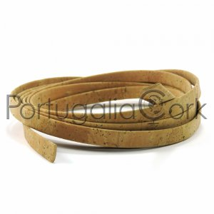 Cork cord 10 mm flat surface