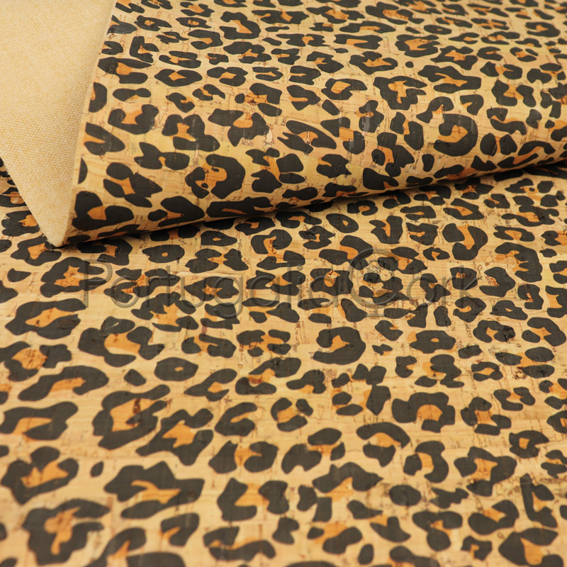 Cork fabric Leopard