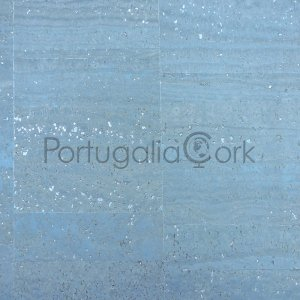 Cork fabric Pearl Blue