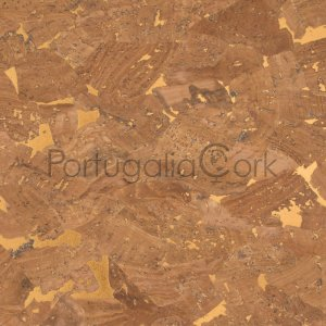 Cork fabric Glossy Marble Bronze