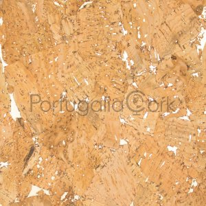Cork fabric Glossy Marble Natural