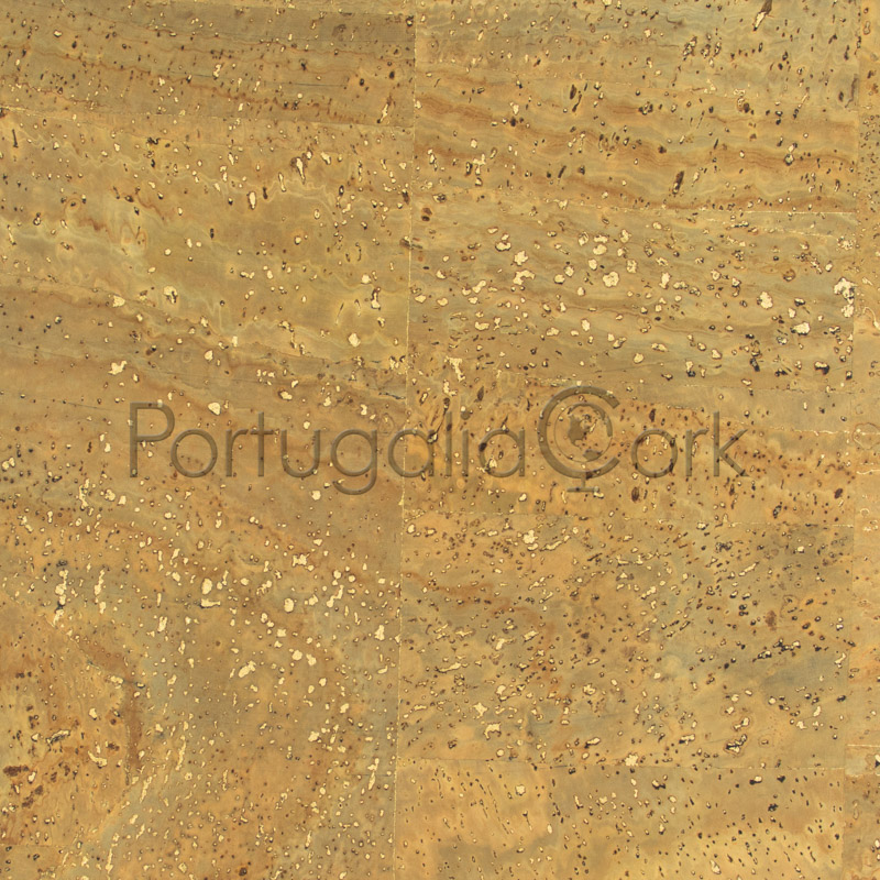 Cork fabric Surface with gold