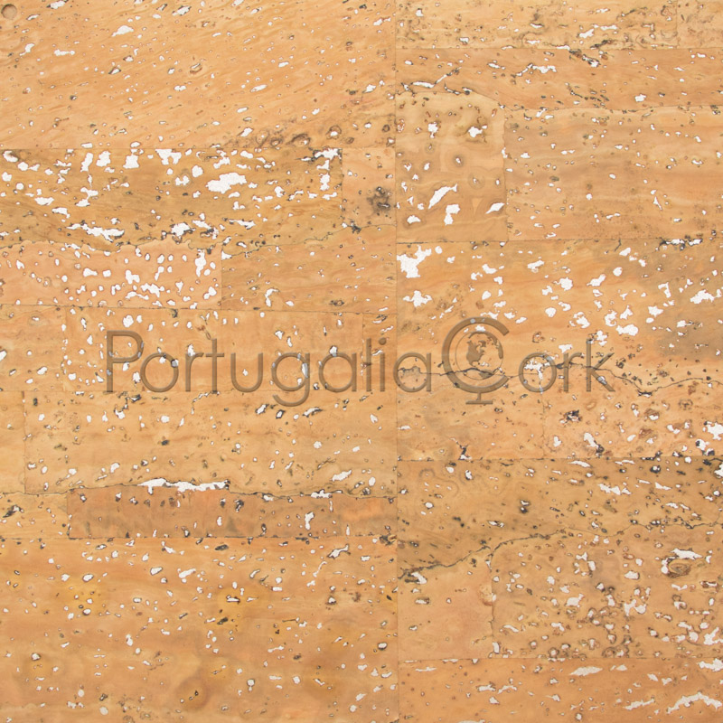Cork fabric Surface with silver